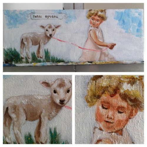 Little Lamb close up #painting #nursery #baby #art  (Taken with instagram)
