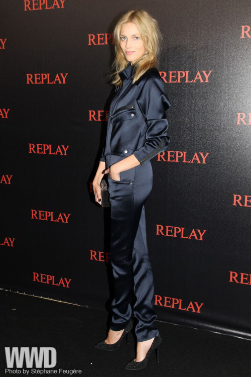 Simple Minds Rock Cannes Anja Rubik at the Replay event.