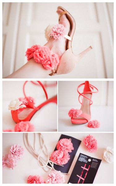 "truebluemeandyou:  DIY Flower Heels. This was on a featured DIY yesterday, but Cocorosa came out with a tutorial for the flower heels today here. She gives you options on how to do this (which is good) and this reminds me of the tutorial I posed yesterday for a floral headband with clip on flowers that I posted by Clones ""N"" Clowns here. *2 image download."