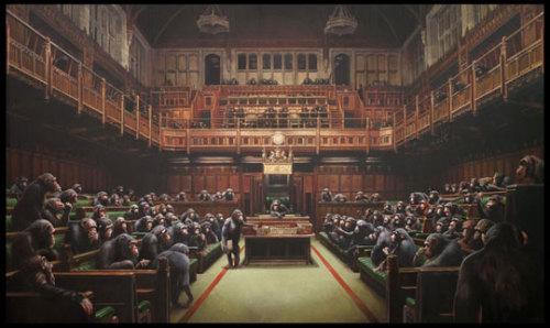 Parliament by Banksy
