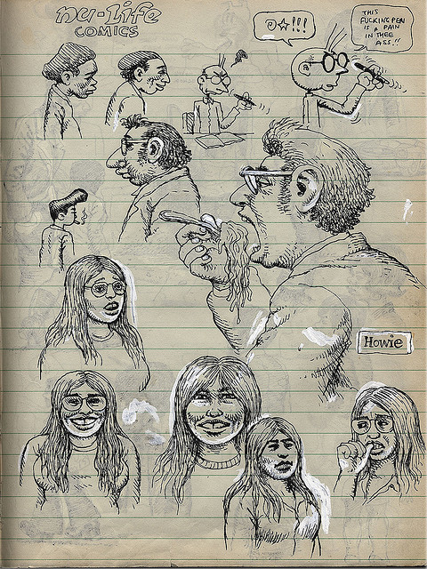 Robert Crumb c.1970 sketchbook by sokref1 on Flickr.