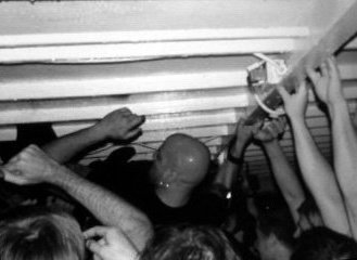 Tonight I see The Bronx on a boat. Here I am crowd-surfing at last year's show.