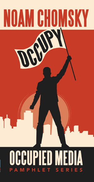 "Noam Chomsky's new book, Occupy, is ""dedicated to the 6,707 people who have been arrested supporting Occupy to date, from the first arrested marching in New York on September 24, 2012, to the woman arrested in Sacramento on March 6, 2012, for throwing flower petals. May our numbers swell and increase."" Occupy is a series of small lectures—On the History of the U.S. Economy, On the Working Class, On Banks, On Politics and Money, On Economics, Plutonomy and the Precariat, Toward Worker Takeover, and Climate Change and Nuclear Weapons—through which Chomsky describes how the systematic corruption of the last forty years has paved the way for the ""1 percent—and even less—the one-tenth of the 1 percent"" to succeed at ""controlling the political system and disregarding the public."" Through tax changes, de-industrialization, and off-shoring of production, America has created a concentration of wealth that has purchased its way into new fiscal policies and the removal of corporate governance and regulation. According to Chomsky, the result is ""a financial casino instead of a protected economy."" Occupy begins with a powerful editor's note from Greg Ruggiero, who comments on ""the heartlessness and inhumanity of the system,"" where ""people's stolen homes are sold off to the highest bidder."" And if it isn't obvious to those who are still asking what the demands of Occupy Wall Street are, Ruggiero puts it plainly: ""Occupy embodies a vision of democracy that is fundamentally antagonistic to the management of society as a corporate-controlled space that funds a political system to serve the wealthy, ignore the poor."" For decades, Chomsky has been marginalized for his insightful, levelheaded, and accurate observations about how our society functions. In these interviews and lectures from Occupy, Chomsky, with his tongue-in-cheek tone, sets the record straight. And he's got an answer for everything. On mobilizing the American public, he says ""the only way to mobilize the American public that I've ever heard of—or any other public— is by going out and joining them."" On the American deficit, Chomsky says it ""would be eliminated, literally, if the United States had a health care system of a kind that other industrial countries have."" Chomsky moves into Medicare, stating its problem is that it ""goes through the privatized, largely unregulated system that is totally dysfunctional."" On what's left of a functioning democracy, Chomsky says:  Things have reached a point in the United States where, even within Congress, if someone wants a position with a degree of power and authority, they literally have to buy it. It used to be that committee chairs we granted by a political party on the basis of seniority, service and other factors. Now, you literally have to pay the party to be a candidate for a chair. Well, that has an effect, too; it drives members of Congress into the same pockets if they want to get anywhere. Again, these are not 100 percent, but these are pretty widespread tendencies and are tending to fragment whatever is left of a functioning democracy. You can see it in the campaigns that are just farcical.  Chomsky provides endless examples of the corruption that has infiltrated the entire system. He cites information from a Citigroup brochure, which says, ""the world is dividing into two blocs—the Plutonomy and the rest."" The Plutonomy is the rich, the rest are the 99%— ""these days they're sometimes called the 'precariat'""— or, the marginal groups of minor importance. Alan Greenspan has also used this word while ""testifying to Congress in the Clinton years,"" Chomsky says. Greenspan ""explained the wonders of the great economy that he was supervising. He said a lot of the success of this economy was based substantially on what he called 'growing worker insecurity.' If working people are insecure,"" Chomsky explains, ""they're part of what we now call the 'precariat,' living precarious existences, they're not going to make demands, they're not going to try to get wages, they won't get benefits. We can kick 'em out if we don't need 'em. And that's what's called a 'healthy' economy, technically."" The result is that Americans are now left with a public policy that is ""radically divorced"" from public opinion. The result is that ""for the majority, real incomes have pretty much stagnated, sometimes declined. Benefits have also declined and work hours have gone up, and so on. It's not Third World misery, but it's not what it ought to be in a rich society, the richest in the world, in fact, with plenty of wealth to go around, which people can see, just not in their pockets."" Chomsky has been making similar observations for the last forty years, and he has been systematically marginalized. In that time, society has brought itself to the brink of political, environmental, financial, and moral destruction. ""It's necessary,"" Chomsky warns, ""to get out into the country and get people to understand what this is about, and what they can do about it, and what the consequences are of not doing anything about it."" One can only cringe at the thought of what will happen if we continue to ignore the wisdom of Noam Chomsky. He gives a clue in Occupy, when he warns, ""People with power don't give it up unless they have to. And that takes work."" Original story on The Coffin Factory."