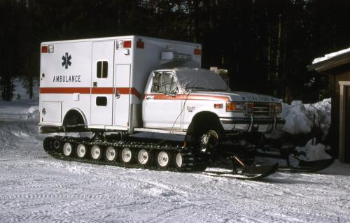 Ambulance on snow :D