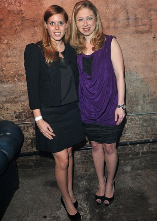 BEATRICE AND CHELSEA. Disappointing lack of eccentric accessories. [via]