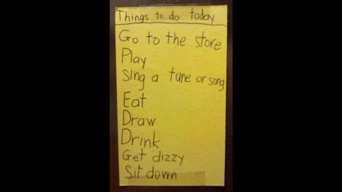 Kid's Adorable To-Do List Will Put Yours to Shame Ahh…those were the days…
