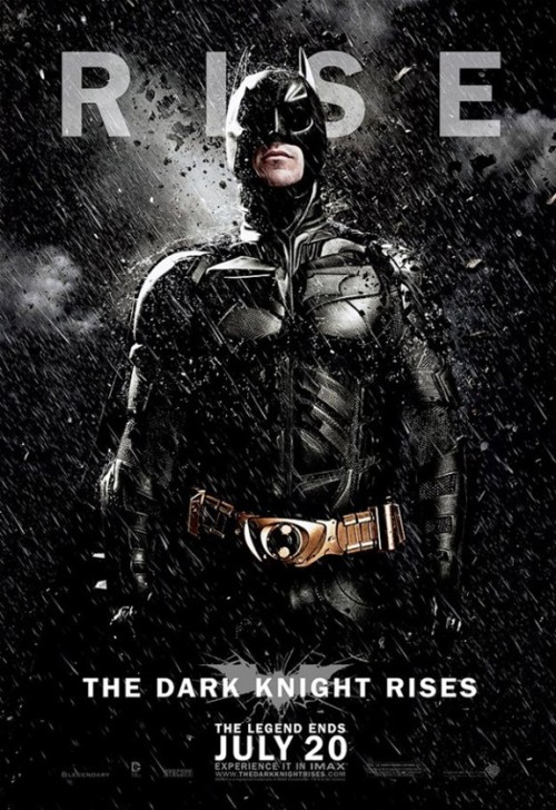 Rise of the New 'The Dark Knight Rises' Character Portrait Posters  By Andy Khouri Following yesterday's release of the first theatrical poster for The Dark Knight Rises, Warner Bros. has transmitted a new series of teasers for the much anticipated film directed by Christopher Nolan. The new posters depict each of the principals — Batman, Catwoman and Bane — in portraits set against the falling debris and sleet. Unlike the poster released yesterday (which was not happily received by some ComicsAlliance readers), these new images are in keeping with the color scheme and other motifs established in the initial posters and trailers. See them all.