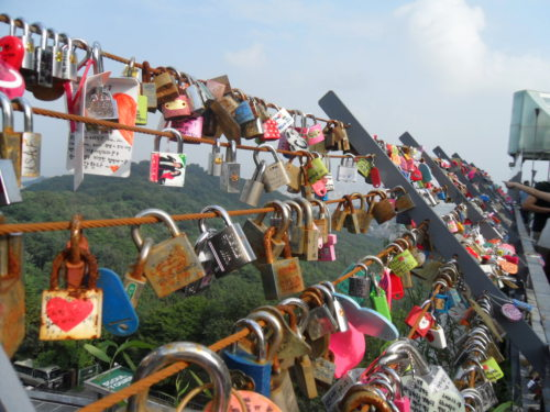okaydominic:  Love locks at Seoul Tower.