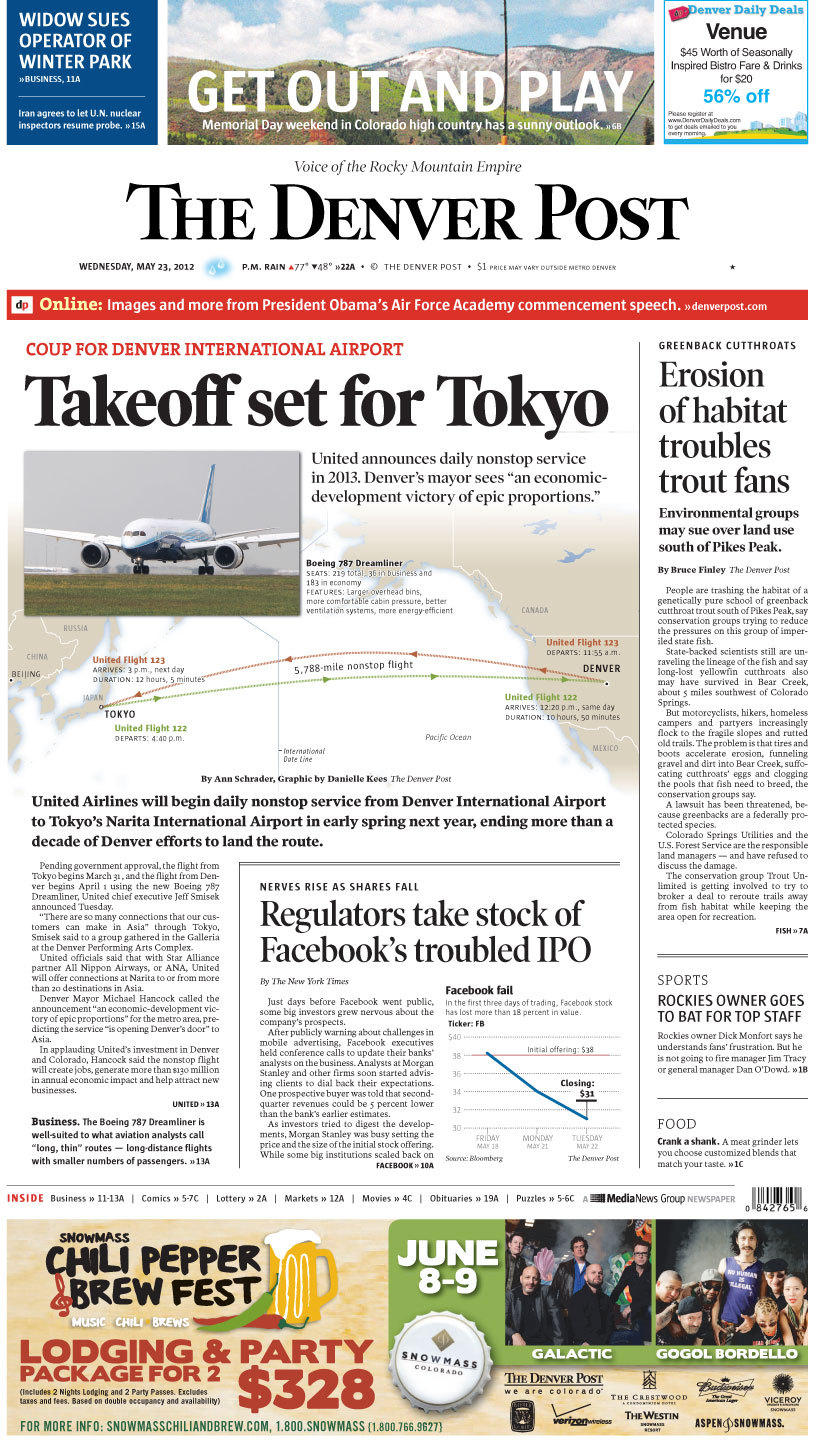 Takeoff set for Tokyo In applauding United's investment in Denver and Colorado, Mayor Michael Hancock said the nonstop Denver-to-Tokyo flight will create jobs, generate more than $130 million in annual economic impact and help attract new businesses. Would you be more likely to go to Tokyo on business or leisure, and what would you most want to do while there?