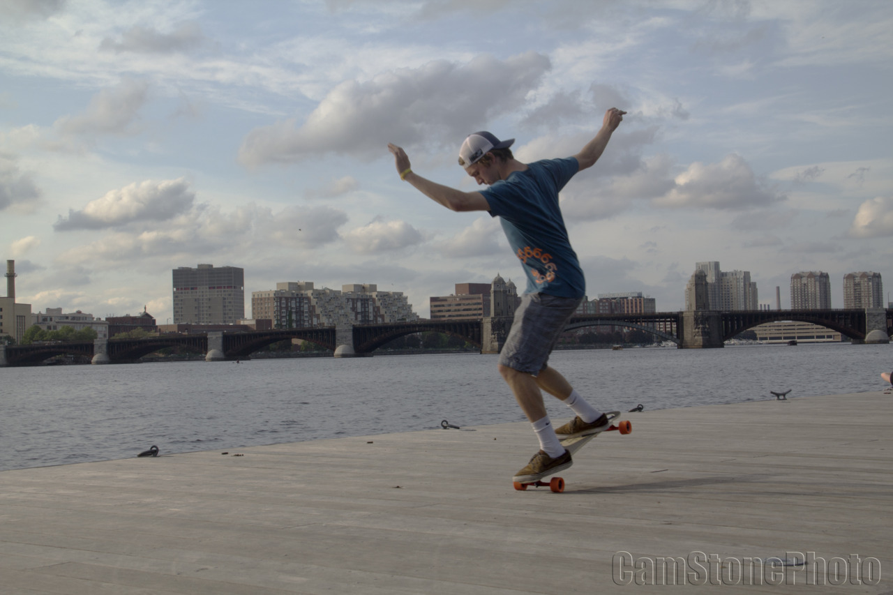cstone90:  Skater: Mike Girard  Photo: Cam Stone   Location: Boston, MA, Charles Esplanade, On the Dock!!! Mikey Dockin his nose all up on the Charles Rivaaaah!