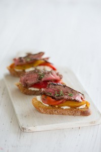 Steak Bruschetta.