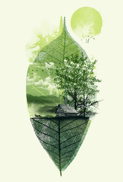 martinekenblog:  (via Live in Nature Art Print by Dzeri29 | Society6)