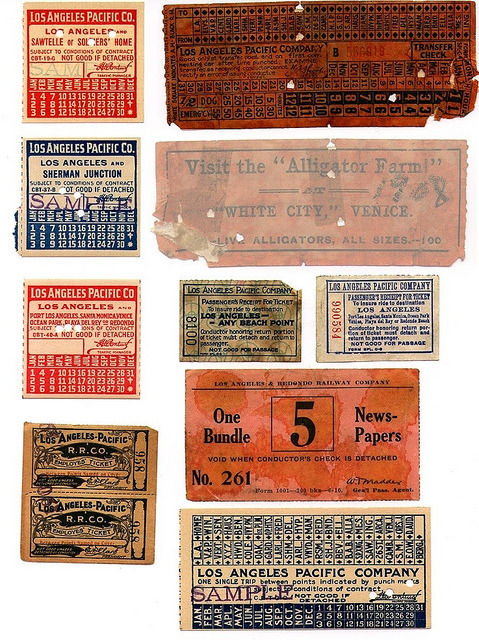 LA Pacific tickets on Flickr. Los Angeles Pacific Railway tickets and transfers