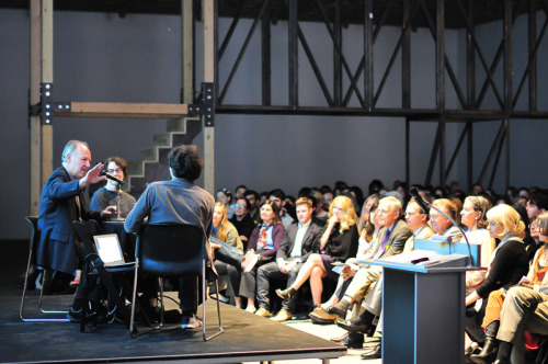 Audio of filmmaker Werner Herzog's talk with 2012 Biennial curators Jay Sanders and Elisabeth Sussman is now up on our website. Hearsay of the Soul, Herzog's Biennial contribution is on view through May 27, 2012.  Photograph by Tiffany Oelfke