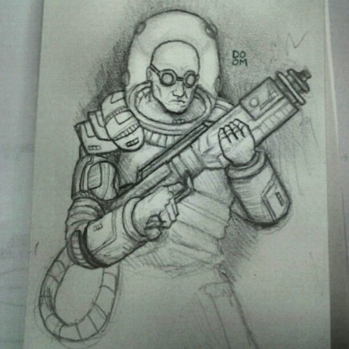 Mr. Freeze sketch. Follow me on Instagram: DOOMCMYK I post my latest sketches there first.