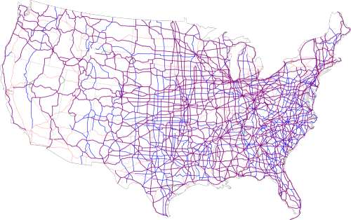 Map of United States Routes