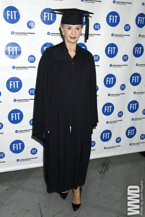 "womensweardaily:  Carolina Herrera Honored at FIT Along with their diplomas, Fashion Institute of Technology graduates were greeted as equals by none other than Carolina Herrera at Tuesday's commencement ceremony. With more than 300 stores worldwide, the designer offered some sound advice. ""I have to say to you all that I have been a designer for 30 years and I have a passion for fashion,"" she said. ""I hope all of you do the same, because it is not always very glamorous. It is a lot of work and you will love it. You will never give up because the moment you have a bit of success you want much more.""  Subscription Required For More"