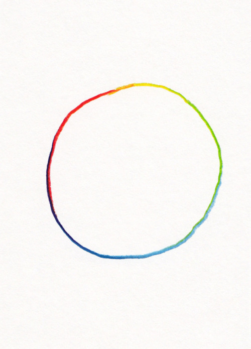 "shapeandcolour:  This is mine now. ""All of the Colors: Hand Drawn Circle""- Jason Polan."