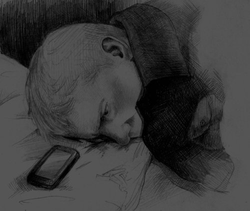 "ishipjohnlock247:  sherlockbbcfanart:  John Watson by ~Taking-meds  just incase Sherlock needs me ……   At first, he did it out of habit. Kept his mobile close by, waiting for Sherlock to text, asking him to show up at some absurd location or run some ridiculous errand.  Every so often, without realising it, he'd pull it out of his pocket, checking for new messages that never came.  People kept suggesting he turn it off, put it away. ""Waiting for a call that's never going to come,"" they'd murmur, softly. But he still heard it.  Eventually, it became more of an act of defiance than anything. Clinging to a shred of hope that it would ring one day.  When it finally did ring, the sound was so foreign, so alien, that John didn't recognise it at first.  Hands shaking, he fished it out of his coat. The screen was lit with a new text message.  I'm sorry, John. I'm home. -SH"