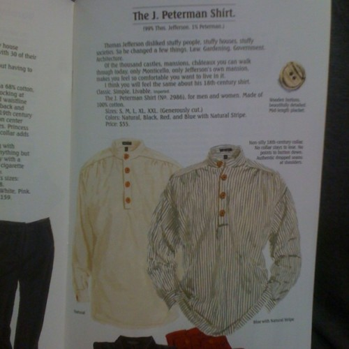 For all you #Seinfeld fans…The J. Peterman catalogue actually exists…im in shock… (Taken with instagram)