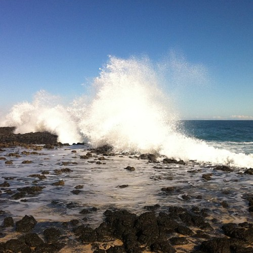 Latergram. The crashing Indian Ocean. (Taken with instagram)