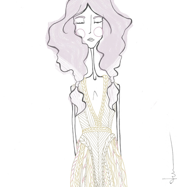 "danielvile:  Woven Dreamsby Daniel Vi Le  our ""ira"" dress, as illustrated by the amazing daniel vi le."
