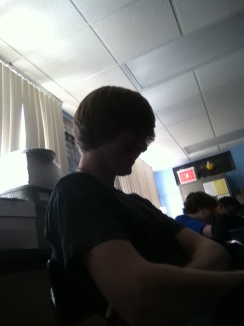 In science with jake, on tublr. Watching a really boring movie, plus we have a bitchy sub. Thank u tumblr for a way out for me and jake to escape. LAWLZ