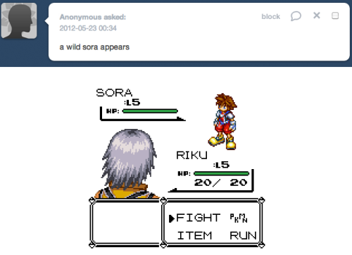 arandomheartless:  Riku used a friend ball!