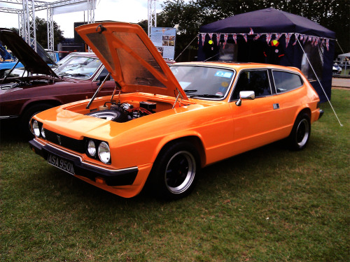 Reliant Scimitar - Silverstone - UKThat is one of the most dope shade of orange I have ever seen.