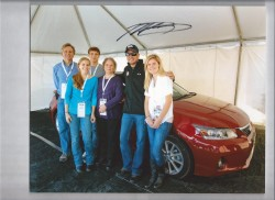 NASCAR driver Martin Truex Jnr. with the Haydon family at Dover International Speedway 2011.