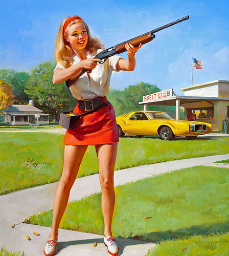 girls and guns… always put on smile on my face.