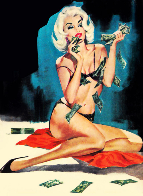 """One For The Money"" paperback cover illustration, 1965"