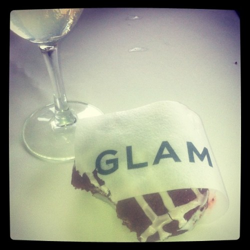 Red velvet ice cream sandwich + edible paper! YUM! #thingswelove @theglamnetwork @coolhaus (Taken with instagram)