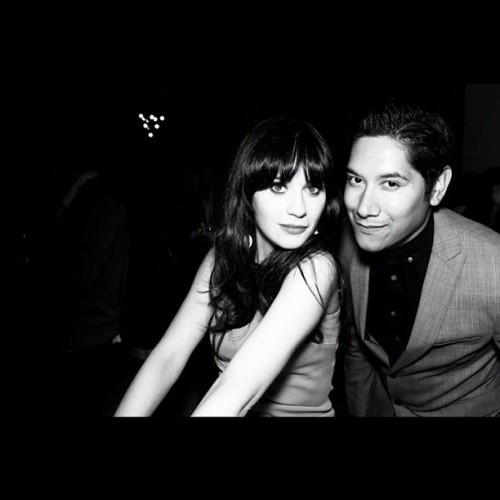 hellogiggles:  Look it's @carlosncharge and @zooeydeschanel (Taken with instagram)