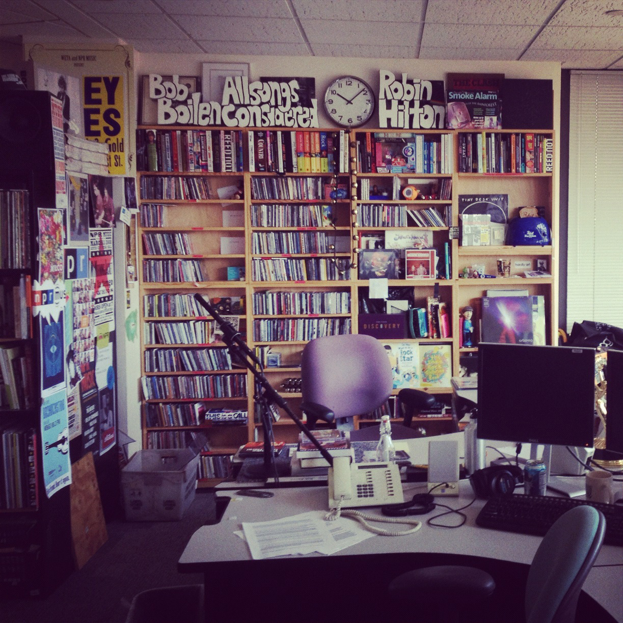 newsweek:  janmarika:  I visited the Tiny Desk!  We want to go there!  Not quite a home, but still inspiring.