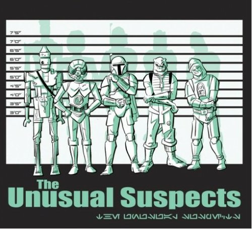 purple-lightsaber:  Star Wars meets The Usual Suspects t-shirt design by Thom Zahler
