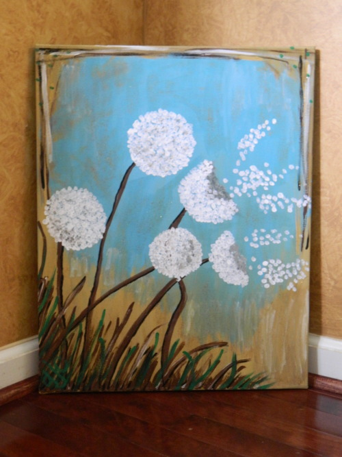 """Dandelions"" On sale for $35. Size:16x20. Arcylic Paint."