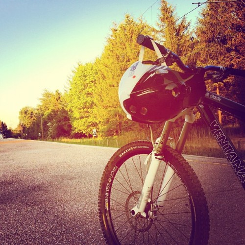 Headin' home… (Taken with Instagram at MTB singletrack 1 Hareskoven)