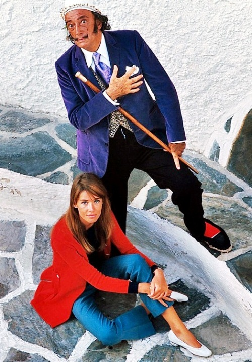 Françoise Hardy and Salvador Dalí