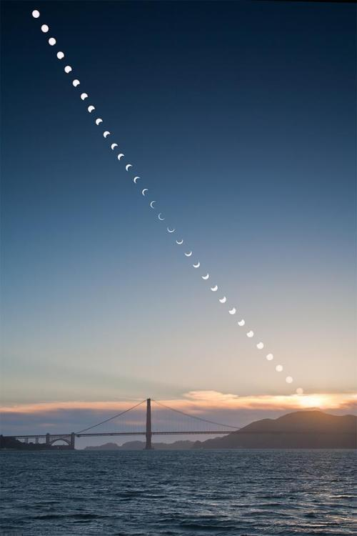 fontelitist:  The solar eclipse over San Francisco