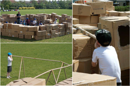 Camp Cardboard at High View School