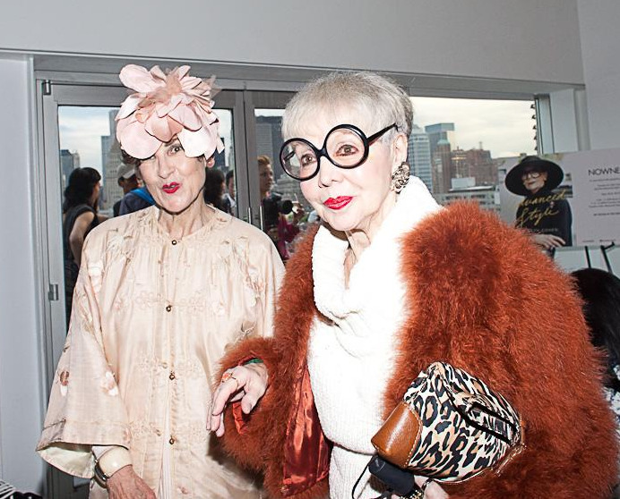 papermag:  We can only hope we'll be this chic when we're older. See more scenes from Ari Seth Cohen's Advanced Style book launch party, shot by PAPER photographer, Rebecca Smeyne.