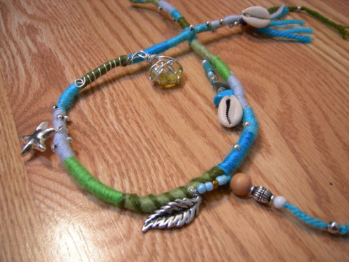 lotusroots:  Mermaid Hippie girl Wrap Extension.. www.lotusrootscreations.etsy.com
