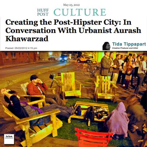 Aurash Khawarzad, from DoTank in Brooklyn was recently interviewed by the Huffington Post for his work in urban renewal. Check out the article and see the PAC chairs used in his famous, Chair Bombing project. In addition, DoTank and the Chair Bombing project will be shown at the 2012 Venice Architecture Biennale as part of the U.S. Pavillion. Hot stuff for DoTank and by proxy, Repurposed Goods!