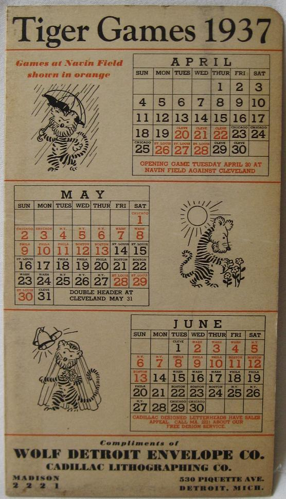 Tigers games, 1937.  Source: http://curiousbookshop.blogspot.com/2012/04/go-tigers-classic-detroit-tigers-sports.html