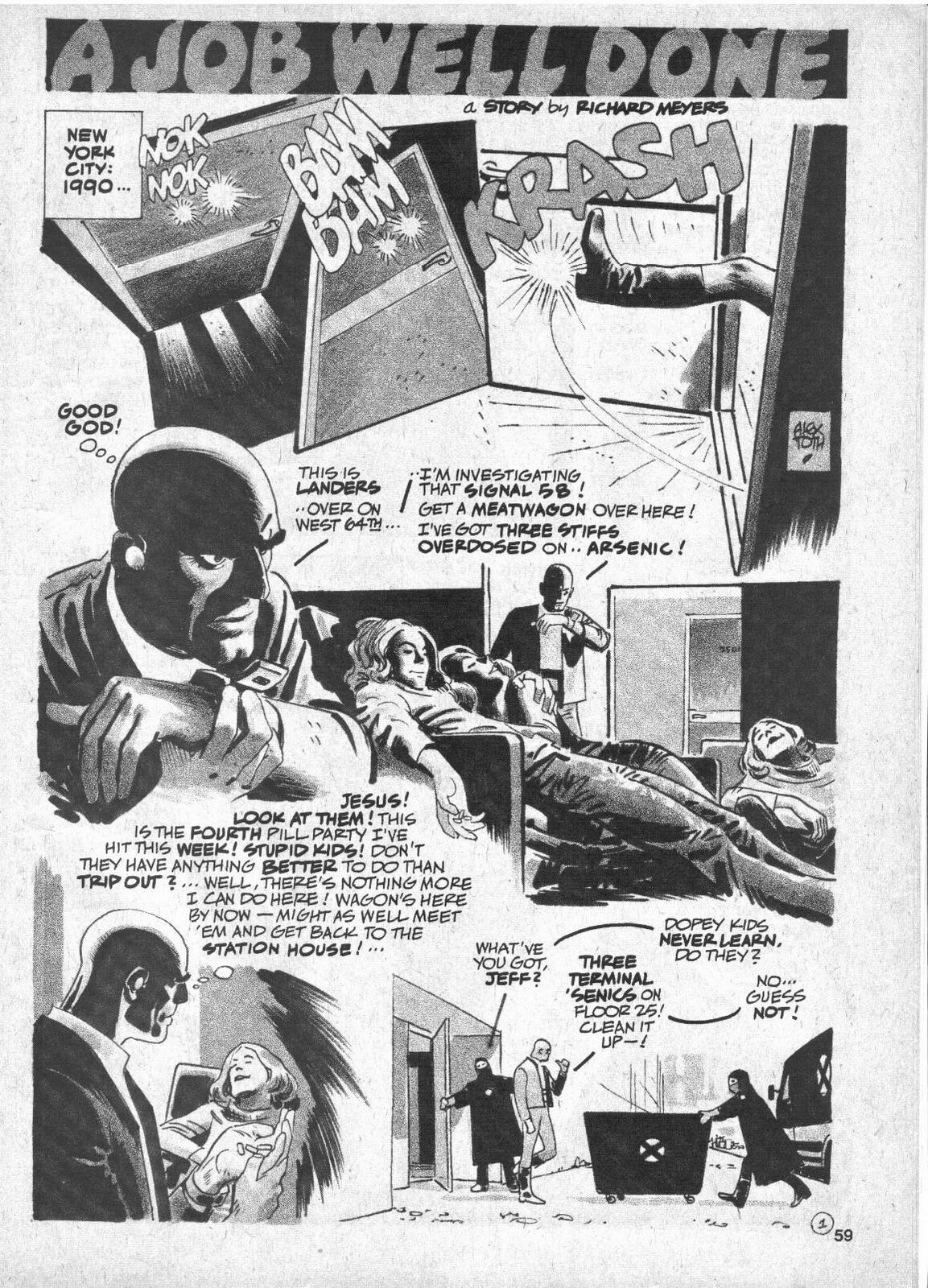 "Alex Toth and Ric Meyers, ""A Job Well Done"""