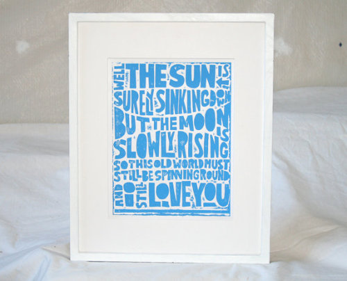(via Lovely At Your Side: New Artwork from Etsy Part I: Raw Art Letter PressInto)