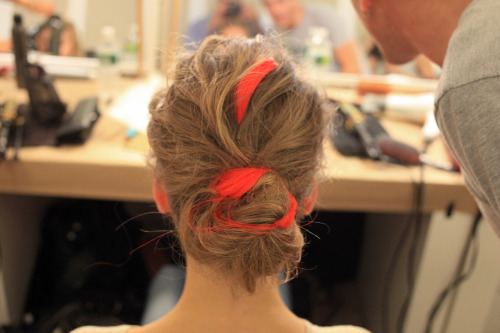 glamour:  The hair at Oscar de la Renta's resort 2013 show. Photo: Courtesy