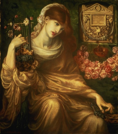 23silence:  Dante Gabriel Rossetti - The Roman Widow, 1874