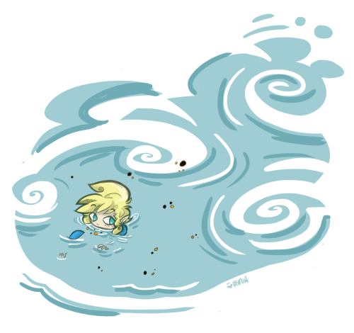 machinamar:  been playin a lot of wind waker to get crazy life stuff off my miiiiind so here's a quick lil thing of link swimmin & chillin (ww link's alt costume is so much betta than the reg one am i right yall)